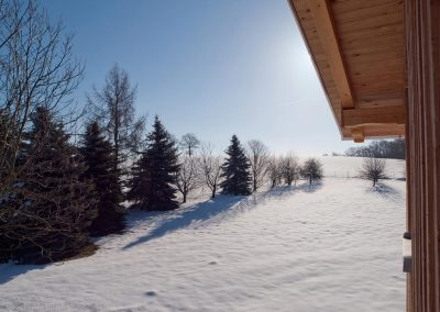 Das Bahnwärterhaus: der Garten im Winter
